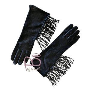 Ralph Lauren soft suede edgy fringe Gloves